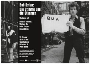 Dylan Wokshop, Die Stimme und die Stimmen