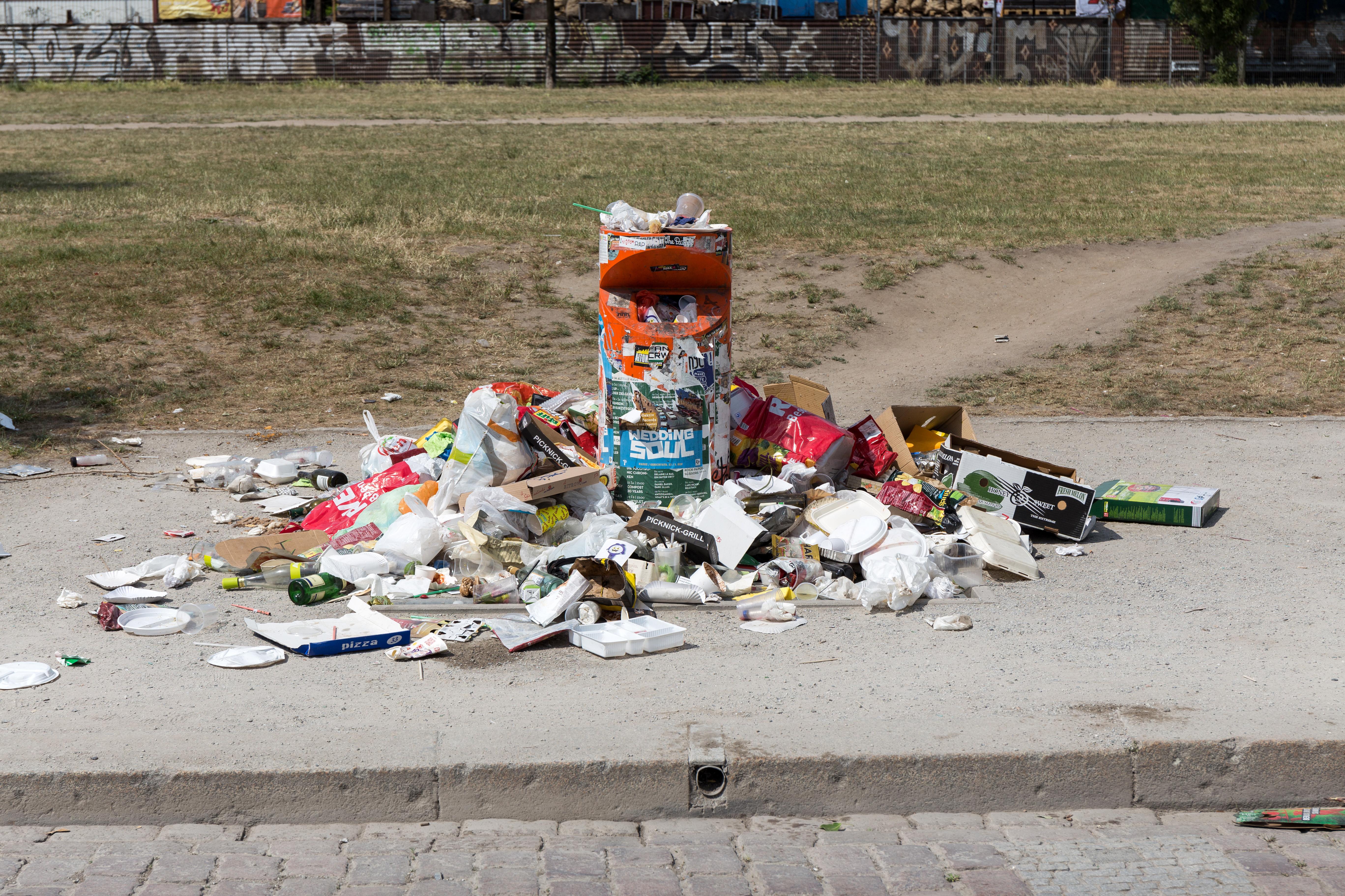 Abfall im Berliner Mauerpark
