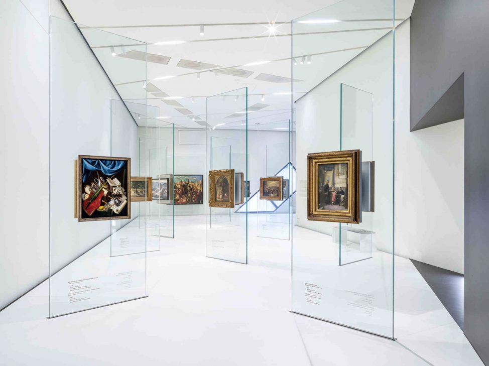 "Theme room ""Art and Artists""; photo by Roman März, courtesy of the Jewish Museum Berlin"